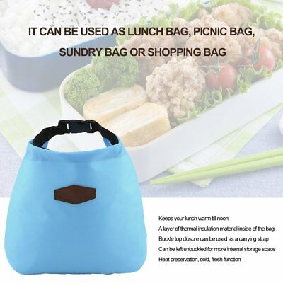 Thermal Insulated Cooler Waterproof Lunch Tote Storage Picnic Pouch Bag RY