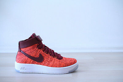 low priced c9a75 e8743 Nike Air Force 1 Ultra Flyknit Mid WMNS Orange Weiß Gr. 36,5 UK