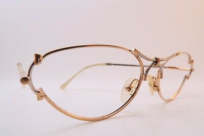 Vintage 80s eyeglasses cable twist gold plated nautical made in Italy splendid