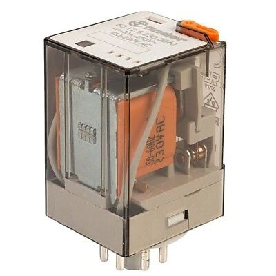 Finder 60.12.8.230.0040 230V Relay Octal Base Fitting DPDT AC