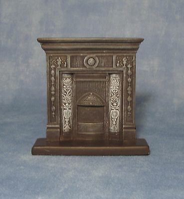 "1/12 Scale Dolls House Budget Black ""cast Iron"" Fireplace"