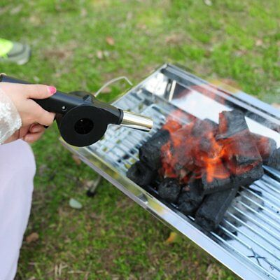 Barbecue Fire Bellows Tools Outdoor Cook BBQ Fire Manual Fan Air Blower RY