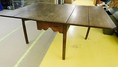 Antique Drop Leaf Oak Table - Believed to be 300 Years Old