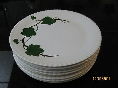 10 Blue Ridge Southern Potteries Bramble Ivy 10' Dinner Plates