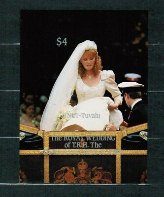 Tuvalu Nui 1986 Minr Block 5 ungez.  **/mnh royal wedding Ferguson + Andrew