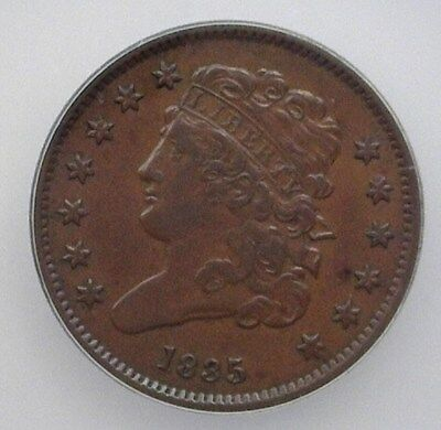 1835 Classic Head Half Cent  Icg Ef45  Lists For $160!
