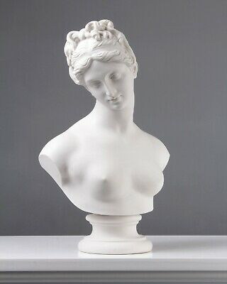 Venus Bust Statue - Venus with the Apple by Thorvaldsen (13.8 inch / 35 cm)