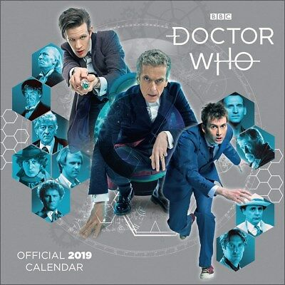 Doctor Who Classic Edition 2019 Official Square Wall Calendar