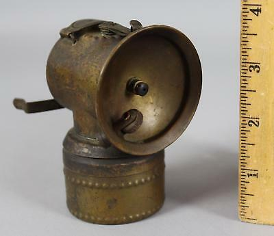 Antique Early 20thC Justrite Miners Carbide Brass Lamp Lantern Coal Gold Mine
