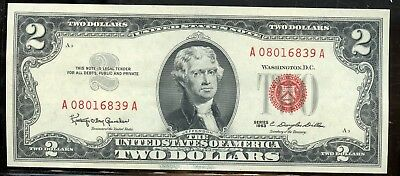 Fabulous 1963 United States $2 Currency Note YA123