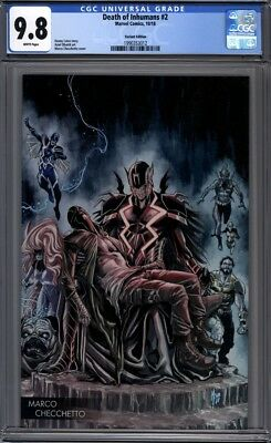 Death of the Inhumans #2   Marvel Comics  Checchetto Variant 1st Print  CGC 9.8