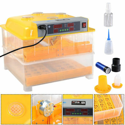 96 Digital Egg Incubator Hatcher Temperature Control Automatic Turning Chicken~