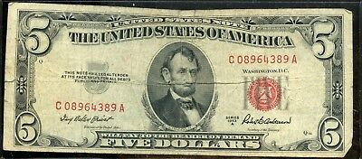 Lovely 1953-A United States $5 Currency Note YA126