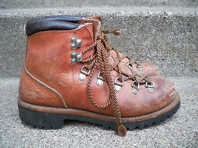 51fa34b04ec VTG RED WING Irish Setter Mountaineering Hiking Leather Mountain Men's  Boots 7.5