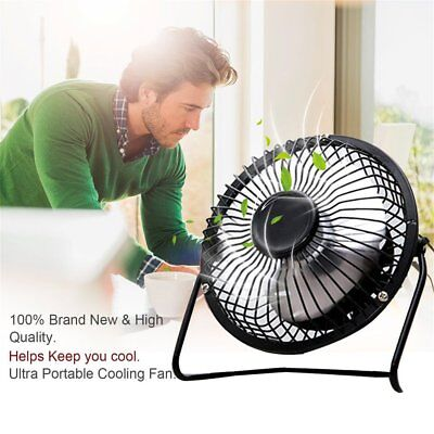 Mini Metal USB Fan Quiet Desk Cooling Fan Home Office Use For Computer Laptop RY