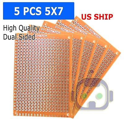 2//5//10 Double Side 7X10 CM PCB Strip board Printed Circuit Prototype Track LW