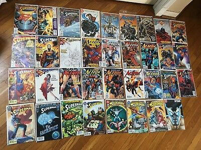 ACTION COMICS LOT DC Superman Copper age to Modern huge lot of 35 books, mixed