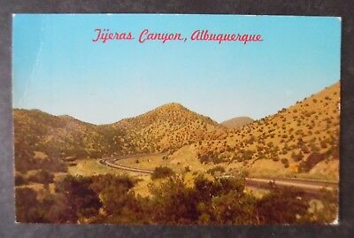 1960s Tijeras Canyon New Mexico Route 66 East of Albuquerque Postcard