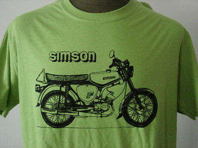 SIMSON S-51 ★ softly T-Shirt * NEU * Siebdruck * Moped * DDR * kiwi green * Suhl