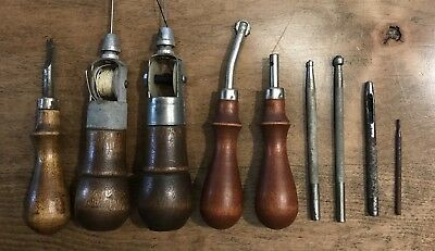 Leatherworking Tools Vintage - AWL For All - Craftool Leather Stamps -More