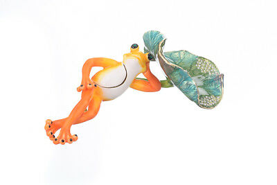 Frog Lying trinket box hand made by Keren Kopal with Austrian crystals Faberge