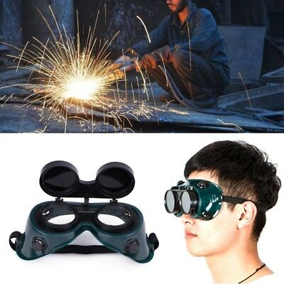 Double Deck Flip Protective Welding Glasses Mask Goggles Black for Welder