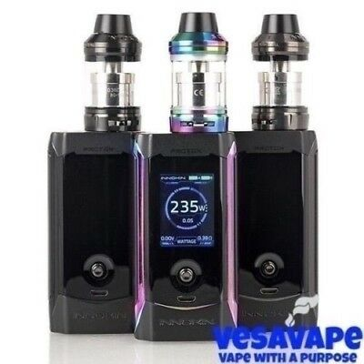 Authentic INNOKIN PROTON 235W KIT + Scion 2 Sub-Ohm Tank - Black/Gray/Rainbow