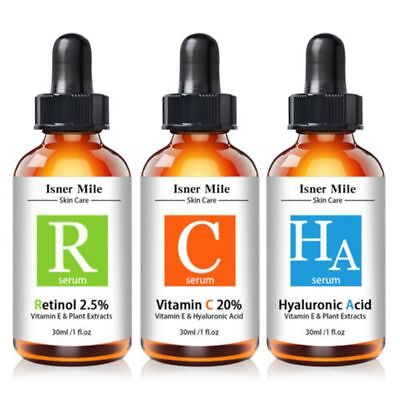 Isner Mile 30ml Retinol Serum Pure Vitamin C Serum Skin Care Hyaluronic Acid BN