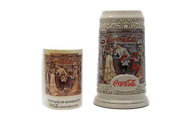 Vintage 1994 Coca-Cola Collectors Stein The Soda Fountain Ceramic Brazil 7.5""