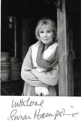 Rare Lady Susan Hampshire Cbe Signed Photograph Monarch Of The Glen The Grand