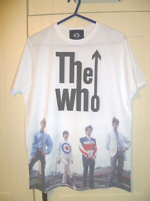 """The Who (Mod) - 2015 Vintage """"50 Years - My Generation 1965"""" White T-Shirt (M)"""