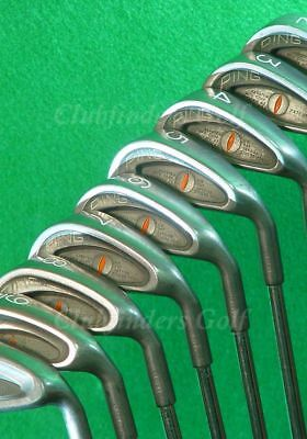 VINTAGE Ping Eye Orange Dot 2-PW Iron Set Factory Karsten ZZ-Lite Steel Stiff