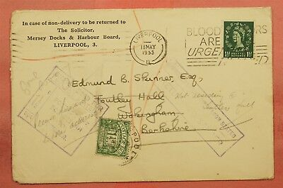 1955 Gb Liverpool Postage Due For Rts