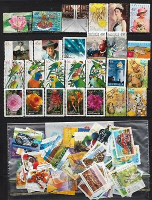2001 To 2005 100 Australian Stamps  All Different  Used