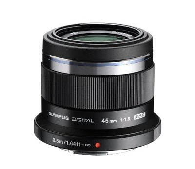 Olympus M. Zuiko Digital ED 45mm f1.8 (Black) Lens for Micro 4/3 Cameras