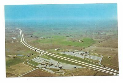 Vintage Ohio Chrome Postcard Turnpike Youngstown Aerial View Eastgate Terminal
