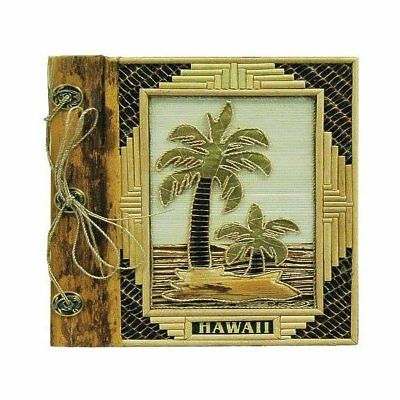 "Islander Hawaii Photo Album Bamboo With 2 Palms 9"" x 11"""