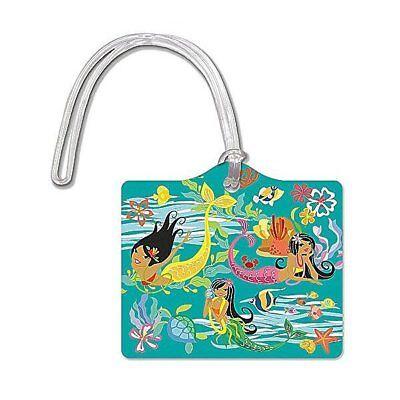 Island Heritage Die Cut ID Luggage Tag Hula Mermaids