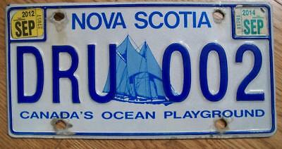 Single Nova Scotia, Canada License Plate 2014 - Dru002 Canada's Ocean Playground