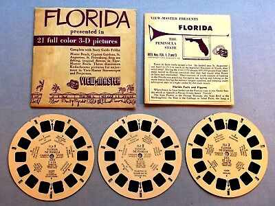 Viewmaster Reels - Florida - Set & Booklet In Good Condition