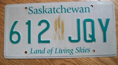 SINGLE SASKATCHEWAN, CANADA LICENSE PLATE - 2009 - 612 JQY -Land of Living Skies