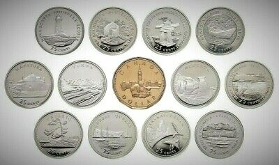 Canada 1992 125th Anniversary Provincial BU UNC Commemorative 13 Coin Set!!