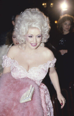 Dolly Parton Busty low cut top Candid Paparazzi Original Photo 35mm Transparency