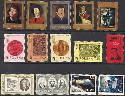 Lot of 14 - 1973 POLAND STAMPS  MNH  from 5 issues