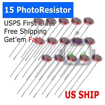 10pcs photoresistor LDR CDS 5mmlight-dependent resistor sensor gl5516 arduino AT
