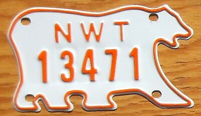 Northwest Territories Canada NWT License Plate Tag Snow Mobile - $2.99 Start