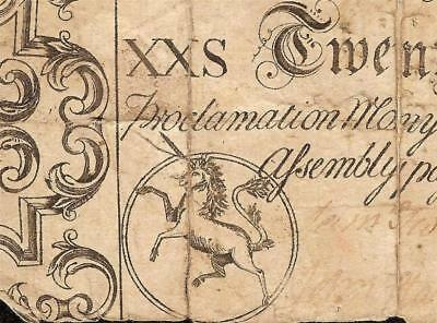 April 4, 1748 Unicorn Note North Carolina Colonial Currency Paper Money Nc-67