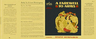 Ernest Hemingway A FAREWELL TO ARMS facsimile dust jacket for 1st and early eds
