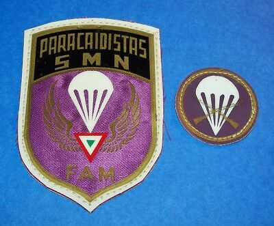 2 Mexican Army Airborne Infantry Paratrooper Patches