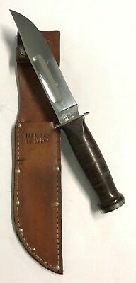 Vintage U.S.A. Robeson Shuredge Hunting/Fighting Knife with Leather Sheath